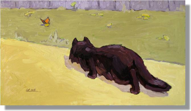 Кіт і метелик п о 40х70см 2006